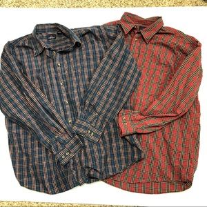 Arrow USA Plaid Long Sleeve Button Down Shirts